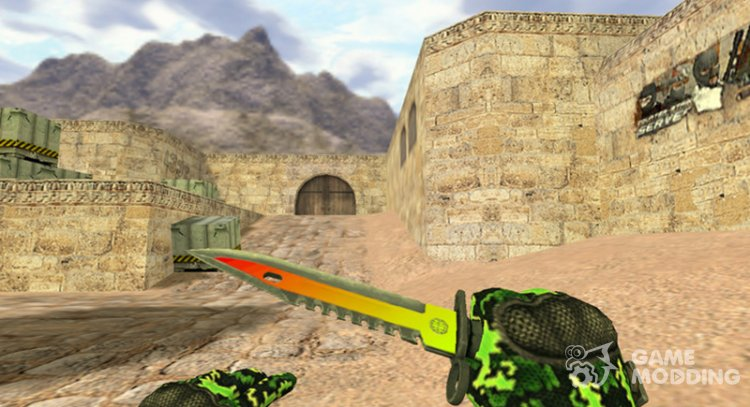 Bayonet M9 Neon light for Counter Strike 1.6