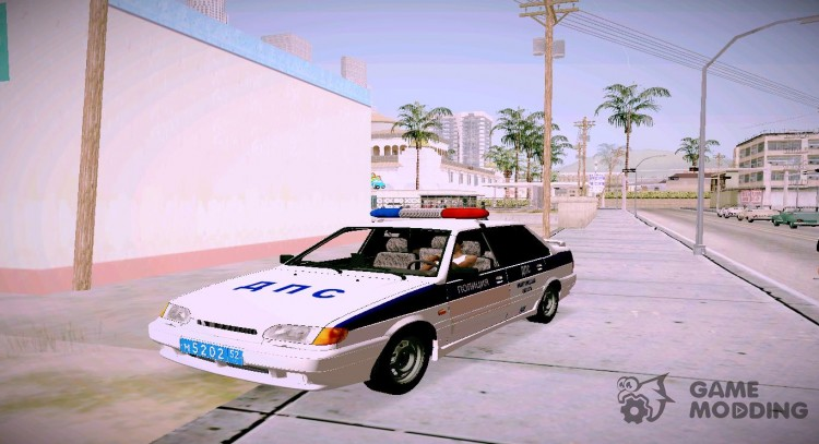 VAZ 2115 DPS of the Nizhniy Novgorod region for GTA San Andreas