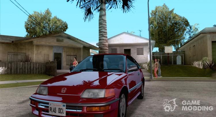 HONDA CRX II 89 92 For GTA San Andreas