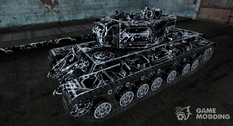 KV-3 TRON skin for World Of Tanks