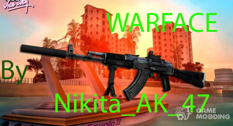 АК-103 из Warface для GTA Vice City