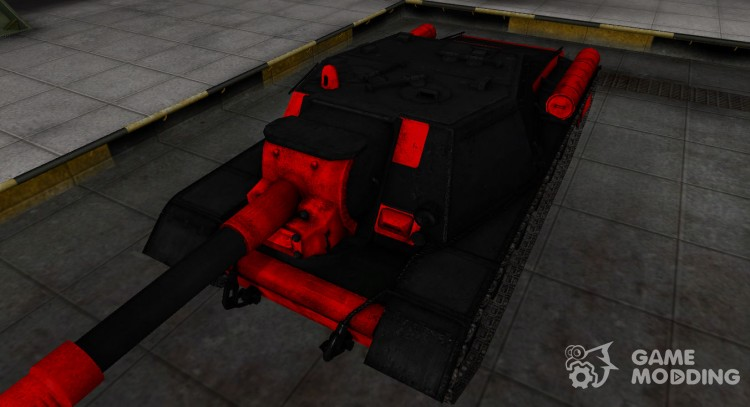 Black and red zone break-through Su-152 for World Of Tanks