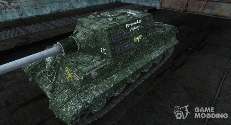 Skin for Jagdtiger (in the style of an Imperial Guard 110 Kadianskij) for World Of Tanks