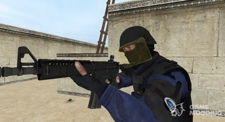 CSGO GIGN with flat glass protection for Counter-Strike Source