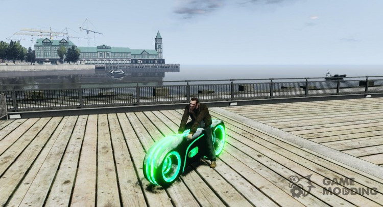 Motorcycle from Throne (neon green) for GTA 4