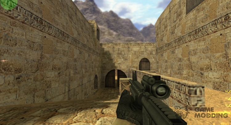 Tactical M4A1 on Peck's Animations for Counter Strike 1.6