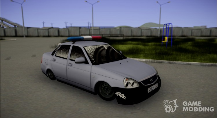 LADA 2170 priora Static Police for GTA San Andreas
