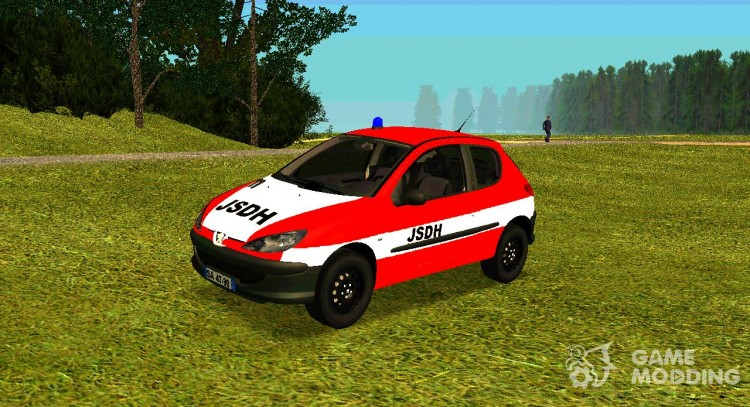 Peugeot 206 Fire for GTA San Andreas