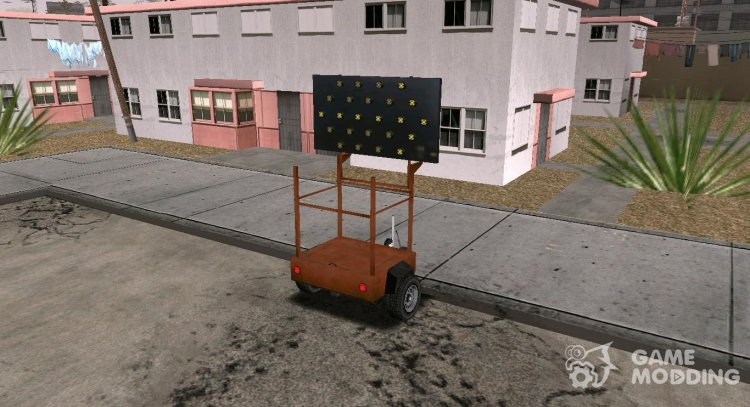 GTA V Arrowboard Trailer (VehFuncs) for GTA San Andreas