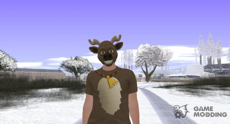 Skin GTA Online deer mask for GTA San Andreas