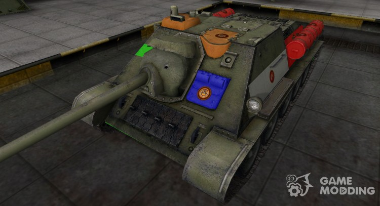 High-quality skin for Su-85 for World Of Tanks