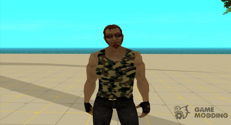 Postal dude in camouflage tank top 1 for GTA San Andreas
