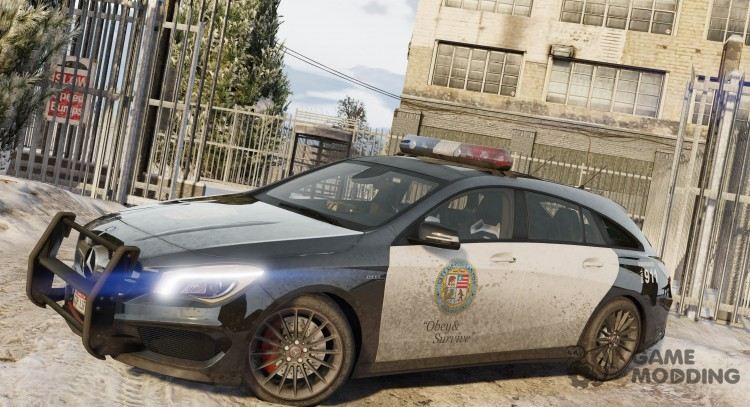2016 Mercedes-Benz CLA 45 AMG Shooting Brake POLICE для GTA 5