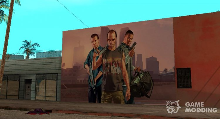 GTA V Wallgraffiti for GTA San Andreas