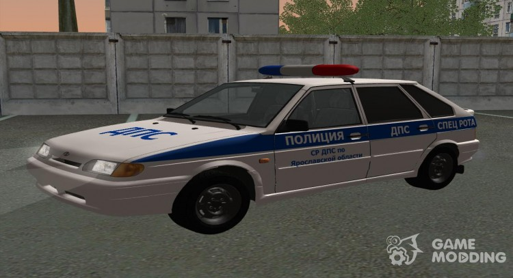VAZ 2114 Police of the Yaroslavl region for GTA San Andreas