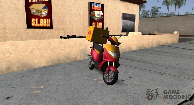 GTA IV Pegassi Faggio Delivery for GTA San Andreas