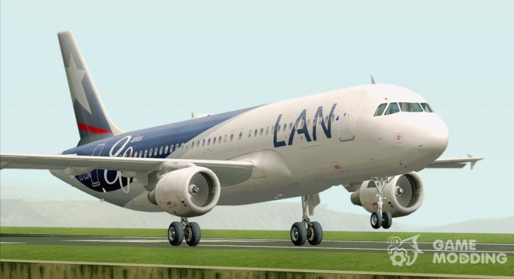 Airbus A320-200 LAN Airlines-80 Years Anniversary (CC-CQN) for GTA San Andreas