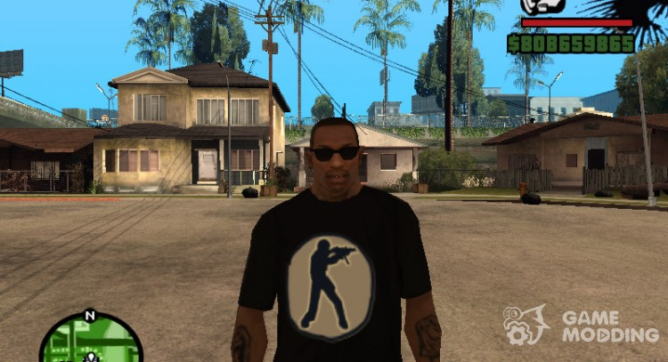 Counter Strike logo t-shirt for GTA San Andreas