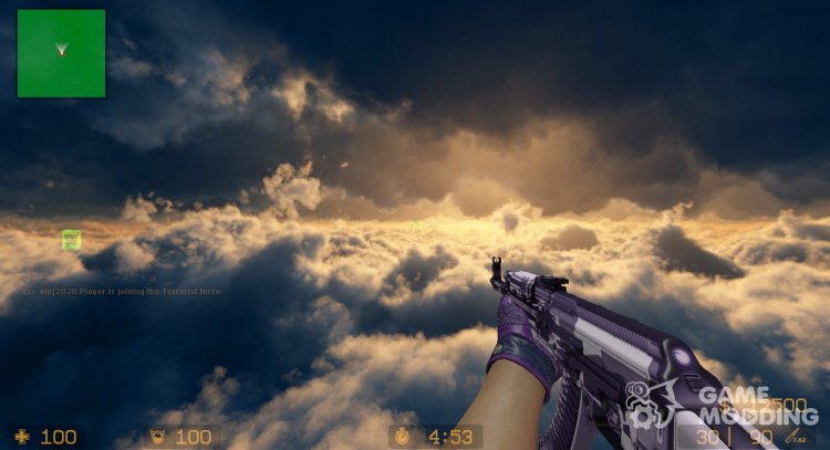 AK-47 I X-RAY - M4A4 VERSION for Counter-Strike Source