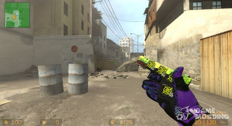 Glock-18 Nuclear Garden (RMR Stickers) for Counter-Strike Source