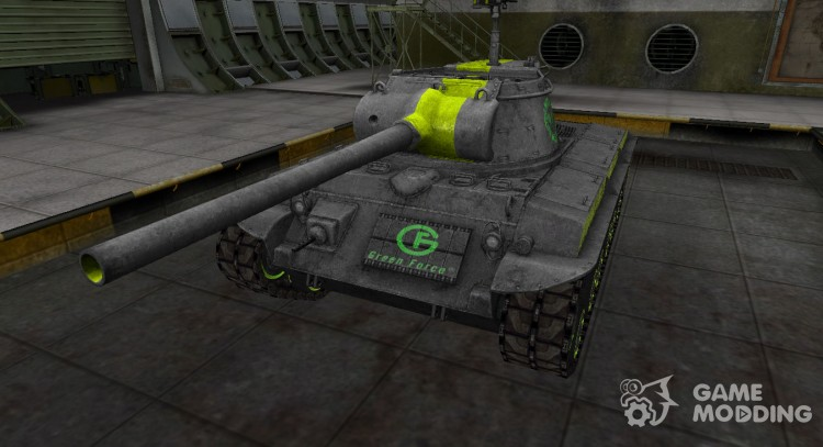 Skin for T25/2 with a green stripe for World Of Tanks