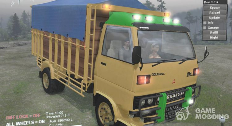 Mitsubishi Colt Diesel 125 PS for Spintires 2014