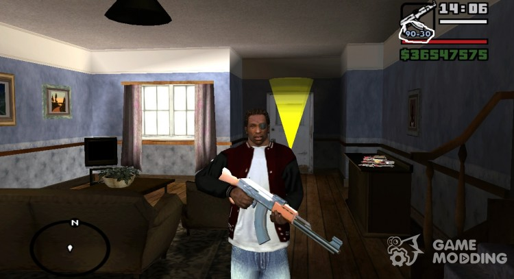 Weapons are not recharged when scrolling for GTA San Andreas