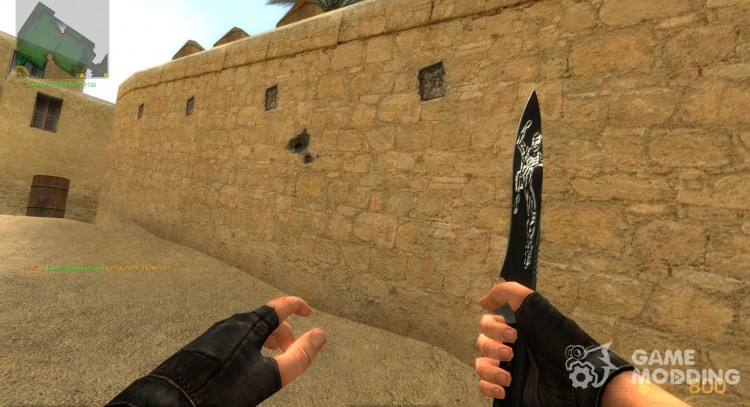 Black Embossed Spiderman Knife for Counter-Strike Source