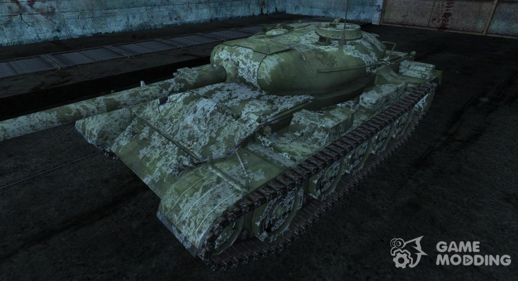 Skin for t-54 winter for World Of Tanks