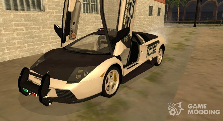 Lamborghini Murcielago Police 2005 For Gta San Andreas