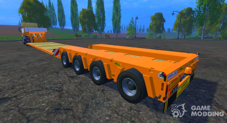 FSMT Heavy transport low loader trailer for Farming Simulator 2015