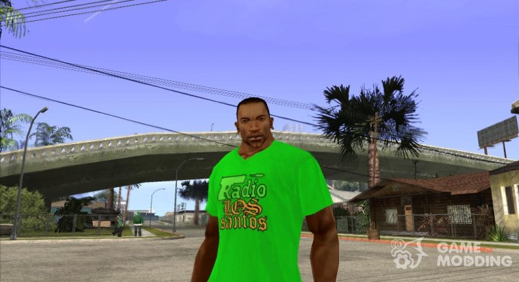 CJ t-shirt (Radio Los Santos) for GTA San Andreas