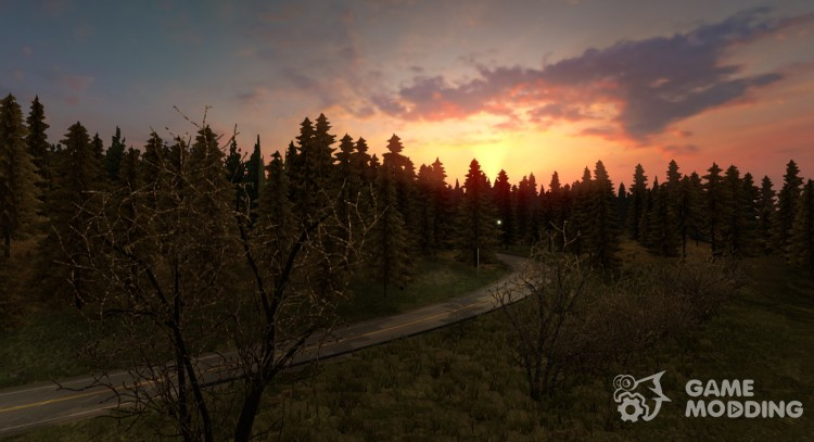Late autumn V5.0 HD (only for 1.26) for Euro Truck Simulator 2