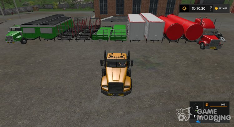 Custom Road Train Pack RUS v2.1 for Farming Simulator 2017
