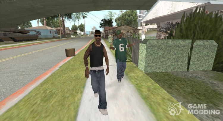 The new Grove-Street Gang for GTA San Andreas