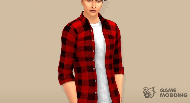 Laid-back shirt for men for Sims 4