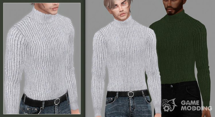 Victor Turtleneck Sweater for Sims 4