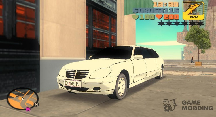 Limousine Mercedes Benz S600 Pullman for GTA 3