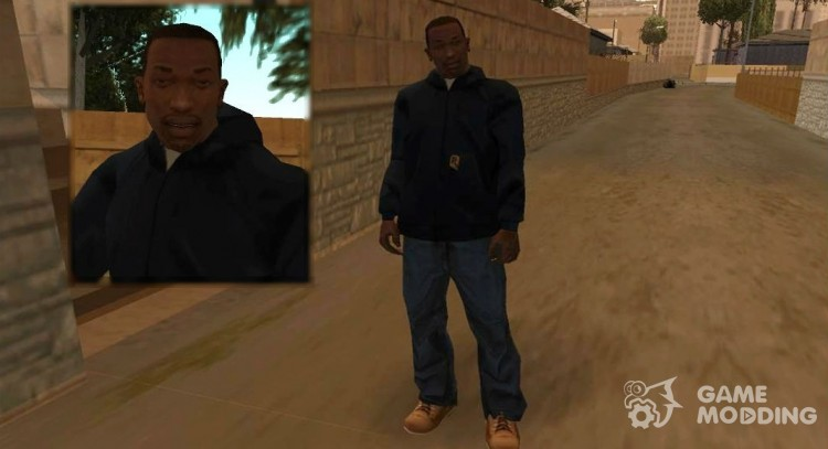 Person CJ'ja and clothing out of beta for GTA San Andreas