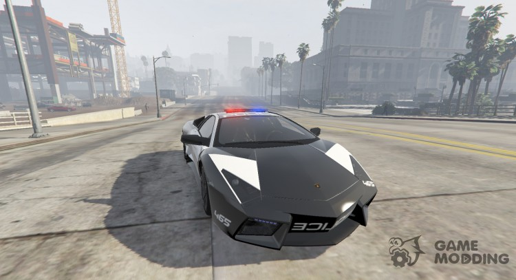 Lamborghini Reventón Hot Pursuit полиции AUTOVISTA 6.0 для GTA 5