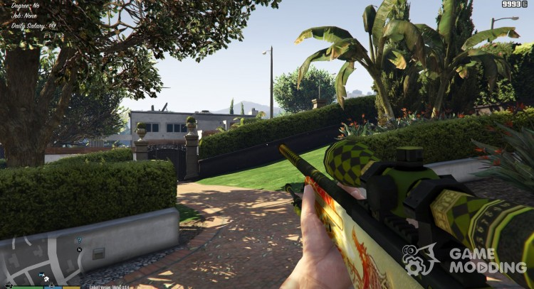 AWP Dragon Lore v1.1 for GTA 5