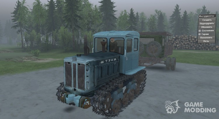 T-74 v 2.2 for Spintires 2014