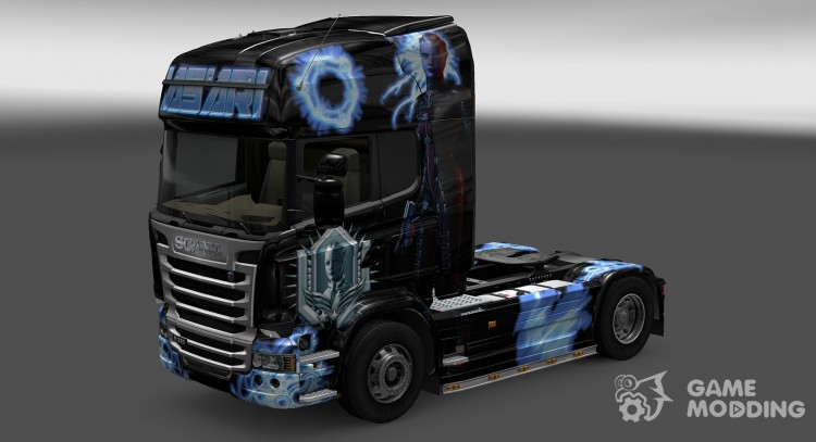 Skin Asari For Scania Streamline For Euro Truck Simulator 2