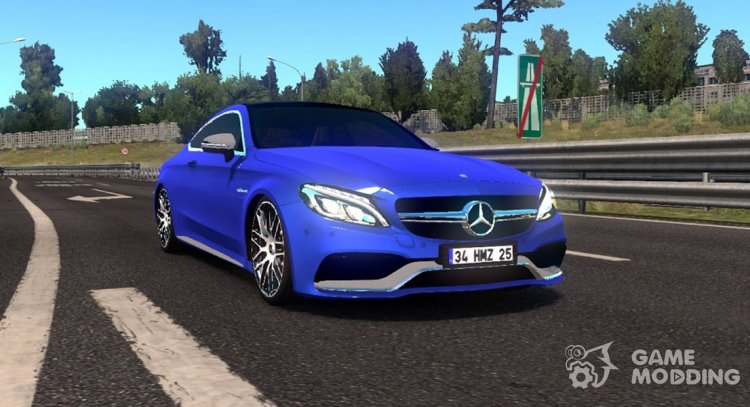 Mercedes-Benz C63 AMG Coupe for Euro Truck Simulator 2
