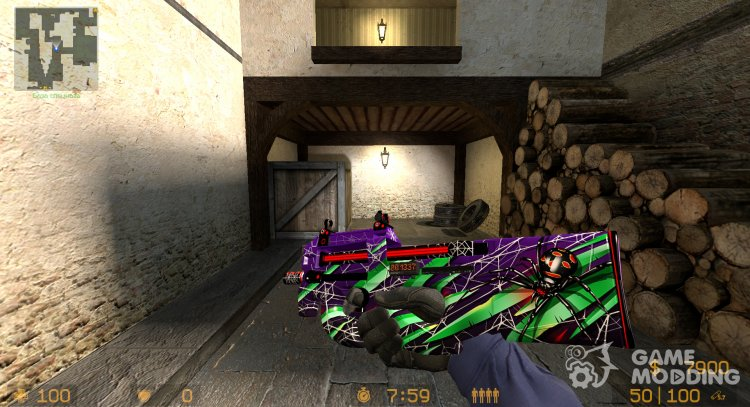 P90 Young Lil Kararkurty for Counter-Strike Source