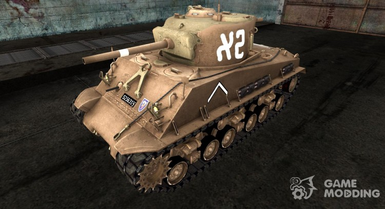 Skin for M4A3E8 Sherman for World Of Tanks