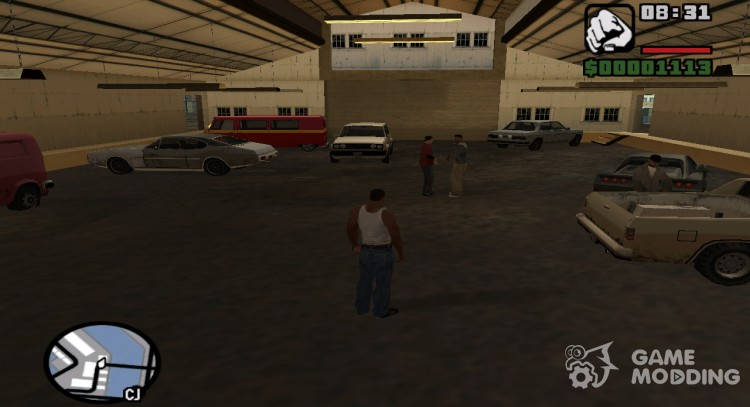 Auto repair in dock for GTA San Andreas