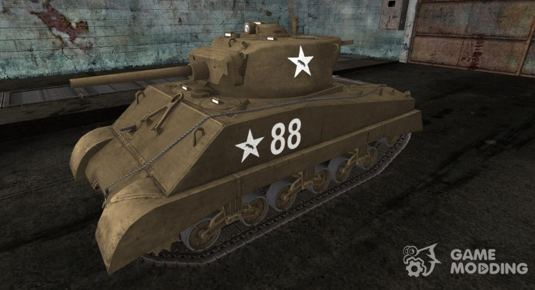 Skin for Sherman Jumbo for World Of Tanks