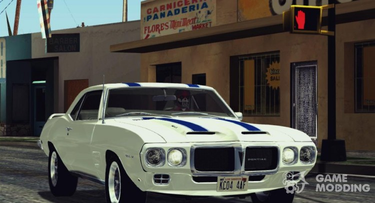 1969 Pontiac Firebird Trans Am Coupe (2337) для GTA San Andreas