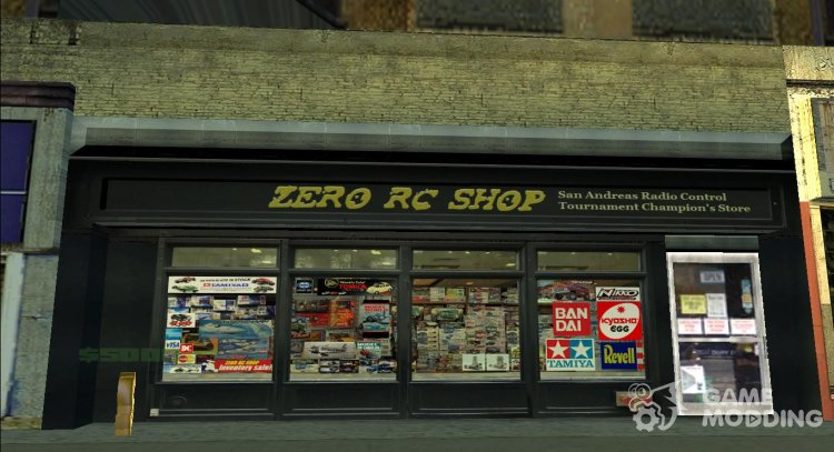 SF ZERO RC Shop Fix for GTA San Andreas
